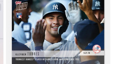 2018 TOPPS NOW #236  GLEYBER TORRES YOUNGEST YANKEES WITH MULTI HR GAME SINCE 54