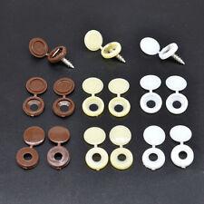 10 Stück Plastik Kuppel Schraubkappen Schwenkbar Schraube Kappe Abdeckung
