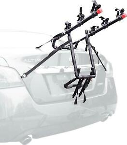 Allen Sports Deluxe 3-Bicycle Trunk Mounted Bike Rack Carrier w/ Side Straps