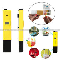 PH Meter Water Tester Pen Pocket Digital LCD Monitor Pool Aquarium Laboratory