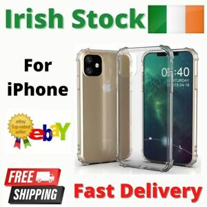 Clear Case Cover for iPhone 11 12 Pro MAX Mini X XS XR 7 8 PLUS Shockproof Soft