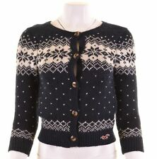 HOLLISTER Womens Cardigan Sweater Size 10 Small Multi Wool  KP16