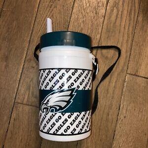 Philadelphia eagles water bottle white green  NFL holds 32 oz  vgc FREE SHIPPING