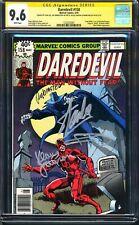 Daredevil #158 CGC 9.6 SS 4X SIGNED BY STAN LEE, FRANK MILLER JANSON RUBINSTEIN