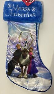 Frozen Anna, Kristoff, Sven & Olaf  BLUE Merry Christmas Stocking New w/tags