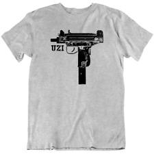 Uzi Machine Gun Rifle T Shirt Mens Military Army Israel Gangster NYC Shooting
