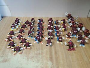 Vintage Late 80's California Raisins Small Figures Figurines Toy Lot of 47