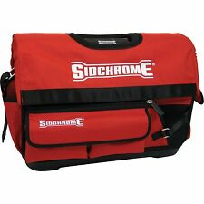 Sidchrome HEAVY DUTY OPEN TOTE TOOL BAG 500mm Aluminium Handle RED *Aust Brand