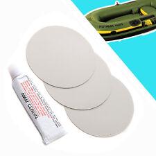 3x PVC Klebstoff Flicken + Glue Schlauchbootkleber Reparatur Set gewebeverstärkt