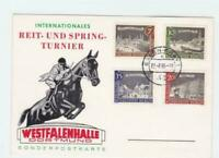 Germany Essen 1965 international horse jumping stamps card R21151