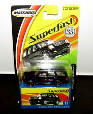 Matchbox Superfast Blister & Box 35 Years - No 11 Cadillac Escalade Black MIB