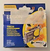 Genuine EPSON T0634 YELLOW INK CARTRIDGE