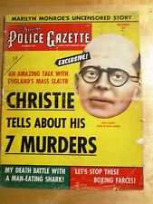 "POLICE GAZETTE Nov 1953. ""CHRISTIE Tells of 7 MURDERS""  Marilyn MONROE Photos"