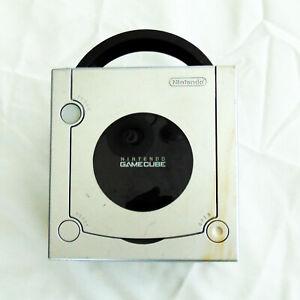 NINTENDO GameCube Platinum SILVER Console (NTSC-U) FOR PARTS/REPAIR