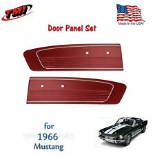 Dark Red Door Panels For 1966 Mustang -Pair- by TMI-Made in the USA