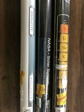 Lot of 3 Educational Posters solar system minerals periodic table homeschool
