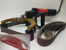 Pipe Tube Polisher Grinder 20 Sanding Belt 4 Carbon Brush stainless steel metal
