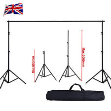 6.56 Ft Adjustable Background Support Stand Photo Backdrop Crossbar Photograph
