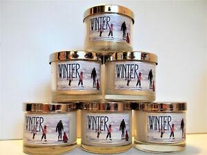 Bath Body Works Home WINTER Mini Candles, glass w/Lids, 1.3 oz., NEW x 6