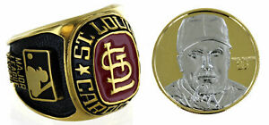 Mark McGwire 24K Gold Overlay Coin & Oversized Ring Set