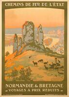 Original Poster - Constant Duval - Normandy - Brittany - Gaillard Castle - 1920