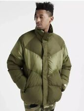 MENS NIKE DOWN FILL JACKET SIZE XL (928893 395) OLIVE CANVAS LOOSE FIT