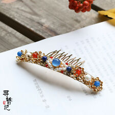 High Quality Chinese Classical Women Hair Comb Hair Accessories Cloisonne Aagate