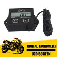 Moto Digital LCD moteur Tachymètre Jauge Tach Hour Meter Pour Course Vélo