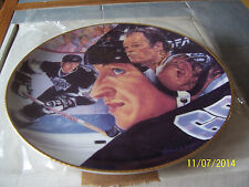 WAYNE GRETZKY AND GORDIE HOWE Hand Signed AUTOGRAPHED GARTLAN PLATE LOW ISSUE #8