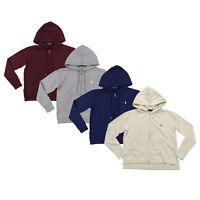 Polo Ralph Lauren Womens Hoodie Sweatshirt Full Zip Fleece Jacket Pony Logo New