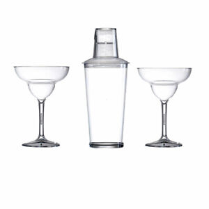 Polycarboante Plastic Reusable Cocktail shaker and Margarita Gift Set