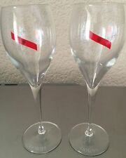 "MUMM CHAMPAGNE ITALESSE ITALIAN CRYSTAL FLUTES 8"" TALL X 2 BRAND NEW BOXED"