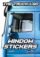 DAF TRUCK DIRTY DUTCH LOGO WINDOW STICKER HAULAGE TRUCKING DRIVER LORRY XF
