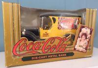 Die-Cast Metal 1923 Coca Cola Delivery Truck Bank Replica Ertl Co. Inc 1993 NIB