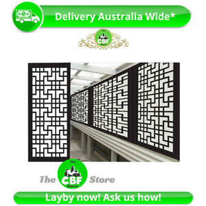 Tokyo - Australian Privacy Wooden Screens- Smooth-Sealed Charcoal - 600x1200mm