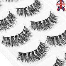 5Pairs 100% Mink Natural Thick False Fake Eyelashes Eye Lashes Makeup Extension