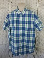 American Eagle Men Button-Front Shirt Top Short Sleeve Casual Size XL B25
