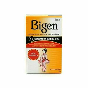 Bigen Permanent Powder Hair Colour Medium Chestnut New Formula No Ammonia