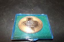 Vintage Lone Star Steak House Saloon Belt Buckle Copper w Texas Design in Middle