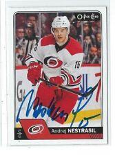 Andrej Nestrasil Signed 2016/17 O-Pee-Chee Card #502