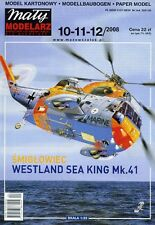 Helicopter Westland Sea King  Mk. 41 - Paper Card Model  in Scale  1/33