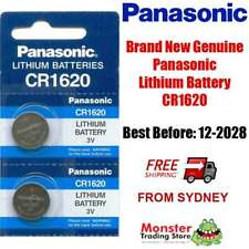 2pcs PANASONIC CR1620 3V LITHIUM BUTTON COIN BATTERY BRAND GENUINE/NEW (12/2028)