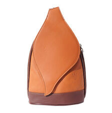 Borsa a Zainetto Cuoio Pelle Leather Backpack Purses Italian Made In Italy 2015t