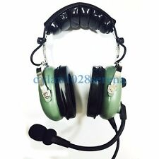 New Pilot Green Headset PNR (Passive Noise Reduction) Aviation Headset IN-1000