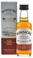 Bowmore Whisky Darkest 15 Jahre 0,05l Miniatur neue Ausstattung