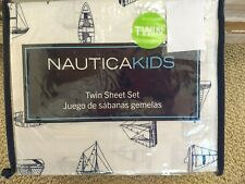 Nautica Kids Sailboats Twin Sheets Nautical Blue Navy White Boats Ship Coastal