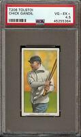 Very Rare 1909-11 T206 Chick Gandil Tolstoi Chicago Black Sox PSA 4.5 VG - EX +