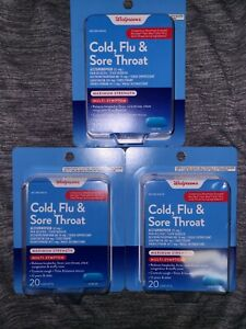 (3) Walgreens Cold,Flu & Sore Throat Pain Reliever  20ct