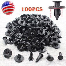 100x New Plastic Rivet Bumper Fender Push Clips Fastener 8mm for Nissan Infiniti
