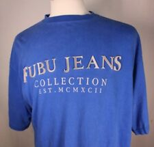 4543c66a4dc FUBU Jeans Collection Mens T SHIRT w/ Raised Rubberized Lettering Sz XL HIP  HOP